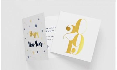 Carte de vœux avec dorure