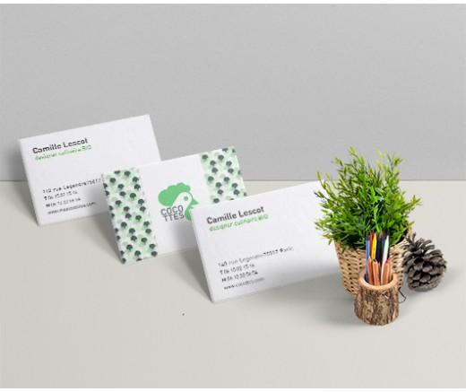 Carte de visite papier recyclé