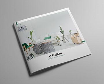 Votre brochure agrafée carrée