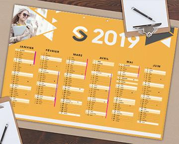 Le calendrier souple A4