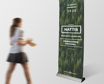 Le roll-up luxe